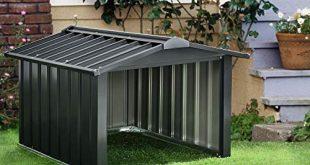Juskys Metall Maehroboter Garage mit Satteldach 86 × 98 310x165 - Juskys Metall Mähroboter Garage mit Satteldach - 86 × 98 × 63 cm - Sonnen- & Regenschutz für Rasenmäher – anthrazit - Rasenroboter Carport